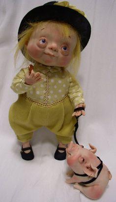 Denise Bledsoe Art Dolls   Denise Bledsoe's mixed media sculptures   Page 11