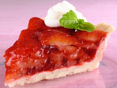 Fresh Summer Strawberry Pie  Diabetic-friendly and low in calories and fat.