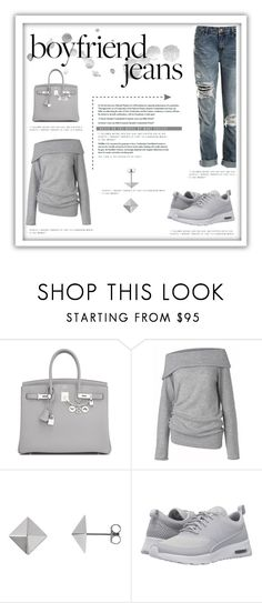 """Grey Goose"" by bella0678 ❤ liked on Polyvore featuring Hermès, Care By Me, NIKE and Sans Souci"