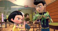 """Don't sass me boy...I KNOW karate!!!"" Young Franny with her son Wilbur from Disney's ""Meet the Robinsons""."