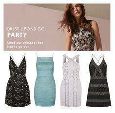 """""""Dress Up and Go: Party"""" by topshop ❤ liked on Polyvore featuring Topshop"""