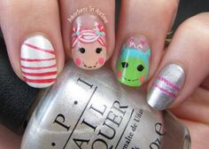 The Digit-al Dozen DOES Decades, Day 1: Lalaloopsy Nail Art! Lady_flower123 http://lady-flower123.blogspot.com/