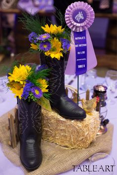 Country Western Centerpiece by Tableart