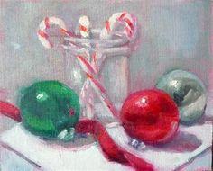 "Daily Paintworks - ""Holidays"" - Original Fine Art for Sale - © Carol Josefiak"