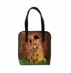 Ručne maľovaná kabelka 8192 inšpirovaná motívom Gustav Klimt