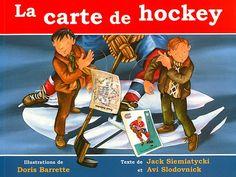 La carte de hockey, Traduit de l'anglais par Christiane Duchesne, illustré par Doris Barrette, éditions Homard, 32 pages (ALBUM) - Ce conte rend hommage à la passion des Québécois pour le hockey et en particulier pour le célèbre Maurice Rocket Richard. Le jeune narrateur rapporte que son oncle, lorsqu'il était plus jeune, collectionnait des cartes de hockey. Dans un jeu de hasard à l'école, il a failli perdre toutes ses cartes, y compris la plus précieuse, celle du grand Maurice Richard. Maurice Richard, Hockey, Roman, Album, Comic Books, Comics, Expo, Fictional Characters, School Stuff