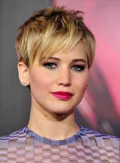 Jennifer Lawrence-I'm not cutting my hair again, I just love her.
