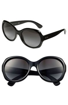 Ray-Ban Round Glamour 57mm Polarized Sunglasses available at Nordstrom