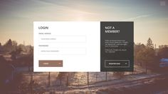 Login / Register Page on Behance Mobile Login, App Login, Login Form, Website Layout, Web Layout, Login Website, Layout Design, Login Page Design, App Design
