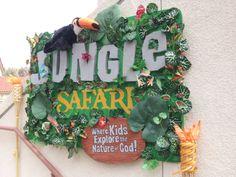 Jungle safari logo sign