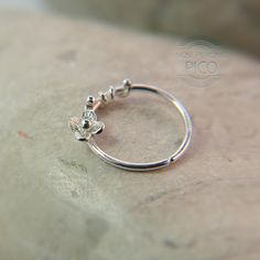 Nose Ring Flower motif Customize Sterling silver /nose by PICOLANE