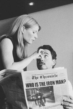 "Gwyneth Paltrow and Robert Downey Jr. ""Iron Man"""
