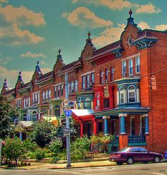 Baltimore, Maryland--this looks like St. Paul or Calvert street in story houses, most made into apartments over the years Honduras, Bolivia, Great Places, Places To Visit, Ecuador, Alaska, Baltimore Maryland, Chesapeake Bay, So Little Time