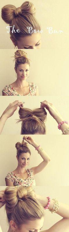 een strik in/ van je haar!