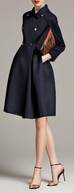Navy Blue coat dress