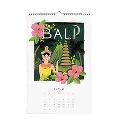 Viaje pelo mundo com o calendário da Rifle Paper Co.