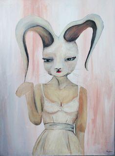 #art #sztuka #malarstwo #rabbit #painting