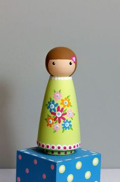 My favorite peg doll, I tried to paint it and it's a lot harder than it looks