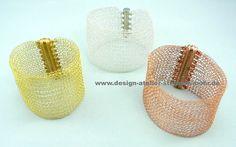 STRICK ARMBAND gold, silber oder rosegold von design-atelier-stefanie-mohr auf DaWanda.com