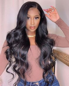 Sew In Hairstyles, Baddie Hairstyles, Black Hairstyles With Weave, Layered Hairstyles, African Hairstyles, Ponytail Hairstyles, Wig Styles, Curly Hair Styles, Weave Styles