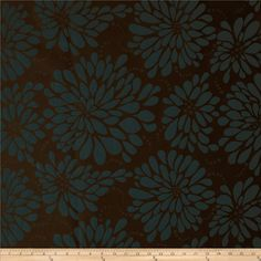 Robert Allen Promo Strike A Posy Jacquard Bark from @fabricdotcom%0A%0ARefresh and modernize an old piece of furniture and update it with a new look. This medium/heavyweight jacquard upholstery fabric is appropriate for accent pillows, draperies, upholstering furniture, headboards and ottomans. Colors include dark brown and dusty blue.