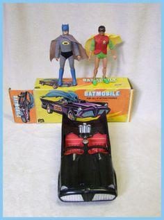 Mego Batmobile Boxed with Mego Batman Robin Original 1970`S   eBay