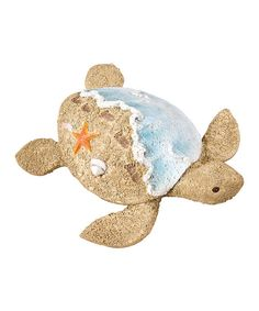 Sandy Beach Sea Turtle Figurine