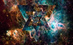 Psychedelic triangles in cosmos HD Wallpaper