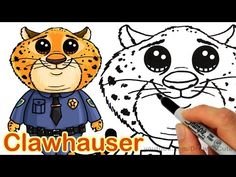 How to Draw Clawhauser from Disney's Zootopia