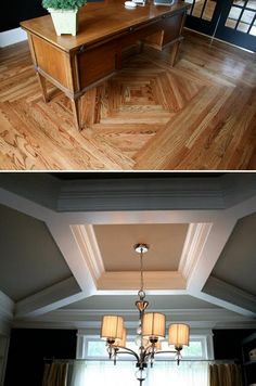 Love the hardwood pattern!