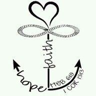 Faith Hope Love Anchor Infinity On Cross Heart Tattoo Pretty Tattoos, Love Tattoos, Body Art Tattoos, New Tattoos, Small Tattoos, Tatoos, Family Tattoos, Infinity Tattoo Designs, Anchor Tattoo Design