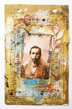 art-journal page made for scrapki.pl DT with Studio Calico papers.