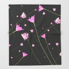 Flowers in the Night II Throw Blanket by swavstudio Buy Flowers, Bedtime, Blanket, Night, Blankets, Cover, Comforters