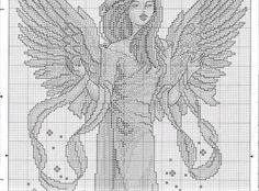 Angel of the View #2 - 3/4 Solo Patrones Punto Cruz | Aprender manualidades es facilisimo.com