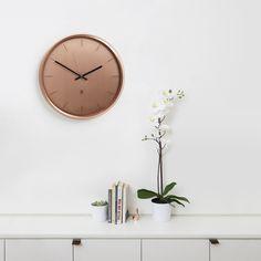 Meta Wall Clock 12.5-Inch in Copper design by Umbra