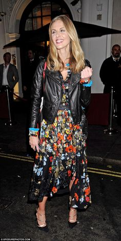 Party style: The every stylish TV star showed off her chic sense of style in the glam ense...