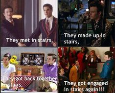 Stairs and klaine!
