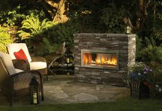 Image detail for -Regency Gas Fireplace Outdoor Fireplaces