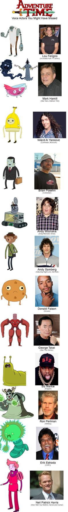 Adventure Time voice actors you may have missed. FREAK THE MIND BLOWN!!!