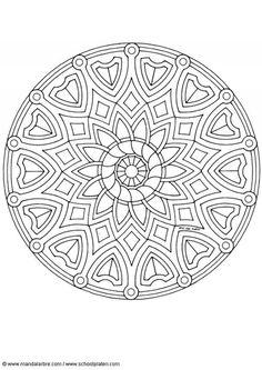 Kleurplaat mandala-1602a