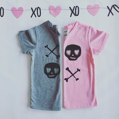 Valentine items are live! Skull XO tees in pink or grey. littlegypsyfinery.bigcartel.com