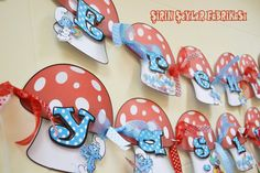 LOVE THIS!!! Smurfs Themed 3d Birthday banner '' Happy by cutethingsfactory, $40.00 on Etsy