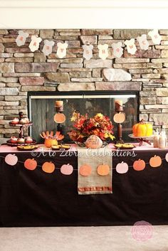 Fall themed baby shower