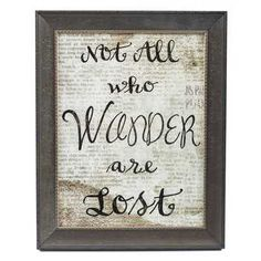 Not All Who Wander Are Lost Framed Wall Art