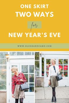 New Years Eve is just around the corner and I have 2 gorgeous outfit ideas for you today! Whether you need a formal look or a casual look, here are some tips to have your outfit on point! And all using the same sequin skirt because sequins are everything! Happy New Year! #newyearseve #styleinspiration #sequins