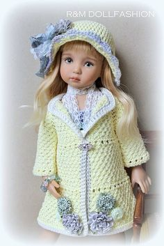 Crochet Doll Clothes, Knitted Dolls, Girl Doll Clothes, Doll Clothes Patterns, Crochet Dolls, Barbie Clothes, Child Doll, Baby Dolls, American Girl Crochet