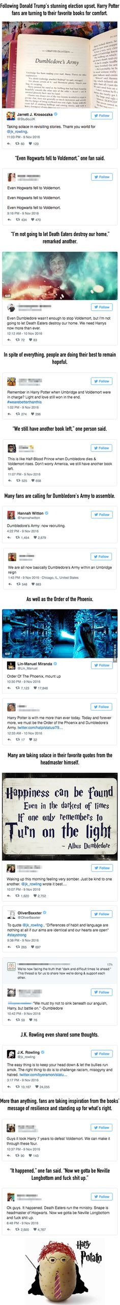 People Are Turning To Harry Potter For Comfort After The Election - 9GAG