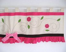 pink valance for nursery - Google Search