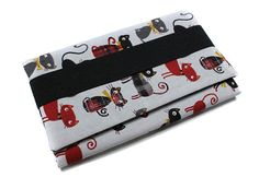 couvre livre de poche adaptable en tissu chat