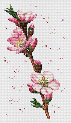 Flower counted cross stitch pattern PDF Peony Cherry blossom Orchid Rose Poppy Magnolia Camomile Floral embroidery – Famous Last Words Cross Stitch Freebies, Cross Stitch Bookmarks, Cross Stitch Borders, Modern Cross Stitch Patterns, Counted Cross Stitch Kits, Cross Stitch Flowers, Cross Stitch Charts, Cross Stitch Designs, Floral Embroidery